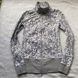 Lululemon gray/white/peach In stride jacket size 6